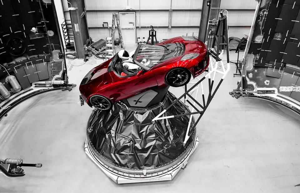 Falcon Heavy & Starman - Tesla Roadster