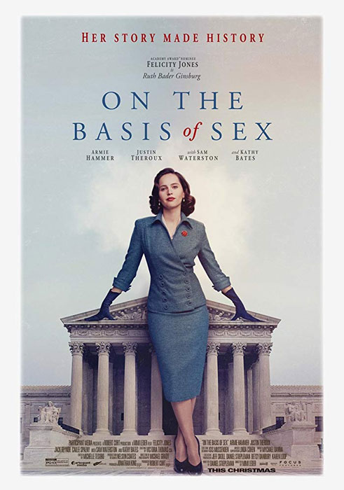 On the Basis of Sex Movie Poster 2018 Felicity Jones Ruth Bader Ginsburg