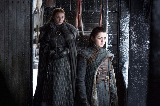 Arya Stark and Sansa Game of Thrones
