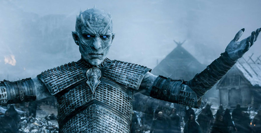Google Ads Chromebooks with White Walkers from Game of Thrones