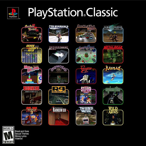 Sony Announced the 20 Games for PlayStation Classic Mini Retro Game Console