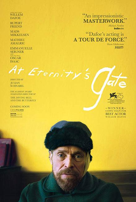 At Eternity's Gate Film Poster Van Gogh Willem Dafoe