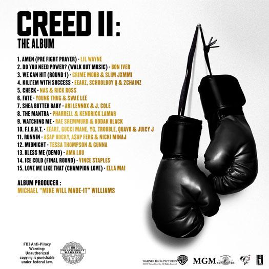 Creed II The Album List and Artwork Stream Listen