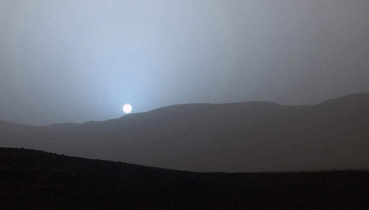 mars kızıl gezegen gün batımı güneş sistemi