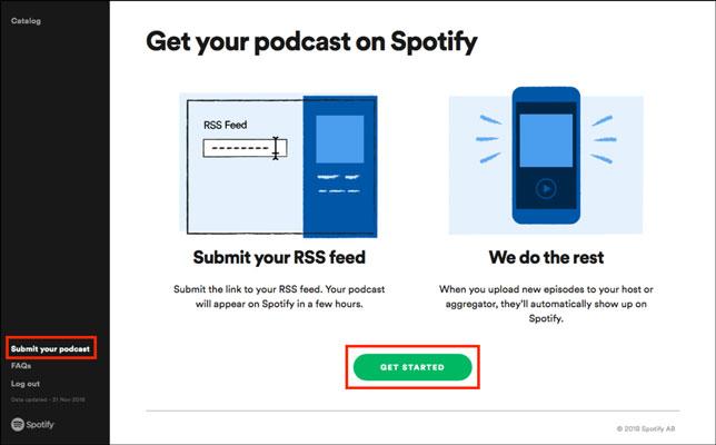Spotify platformuna Podcast yüklenmesi için neler yapılmalı: